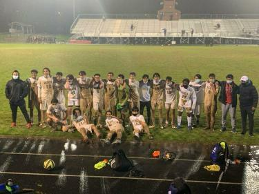 The RM Varsity Boys Soccer team went undefeated in 2021 and outscored their opponents 14-4 overall.