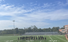 The BOMS boys perform their highly anticipated routine at the homecoming pep rally on October 15, 2021. BOMS is led by the R.M. POMS team, and typically do 2 to 3 performances per year. The boys, along with the rest of the hype group, were prepping the crowd for the homecoming football game.